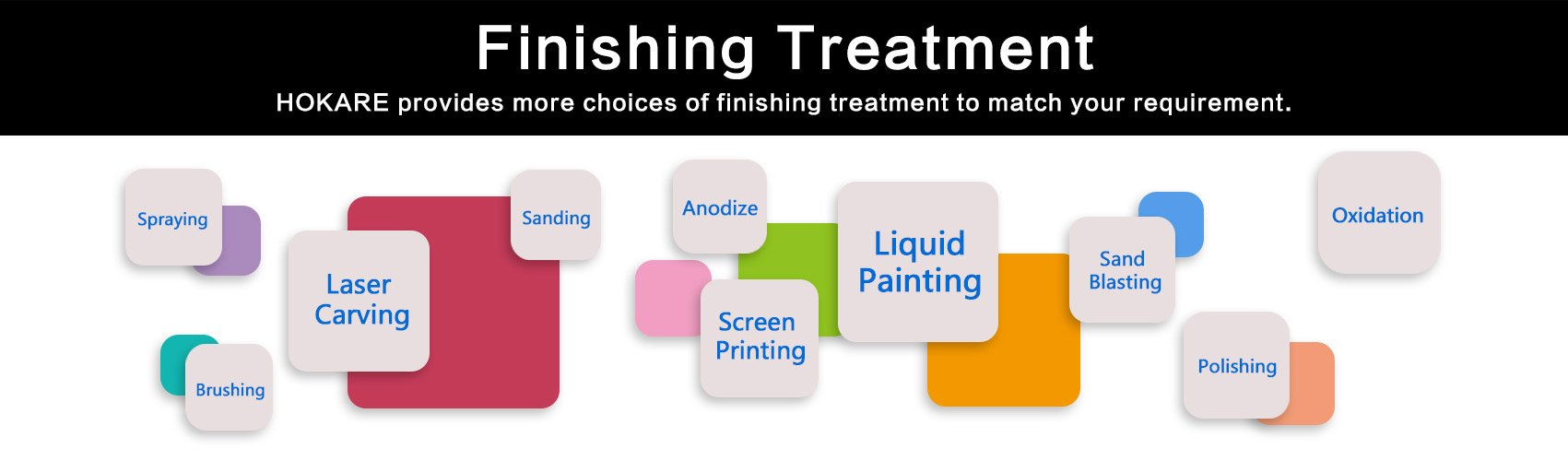 CNC Machining finishing treatment