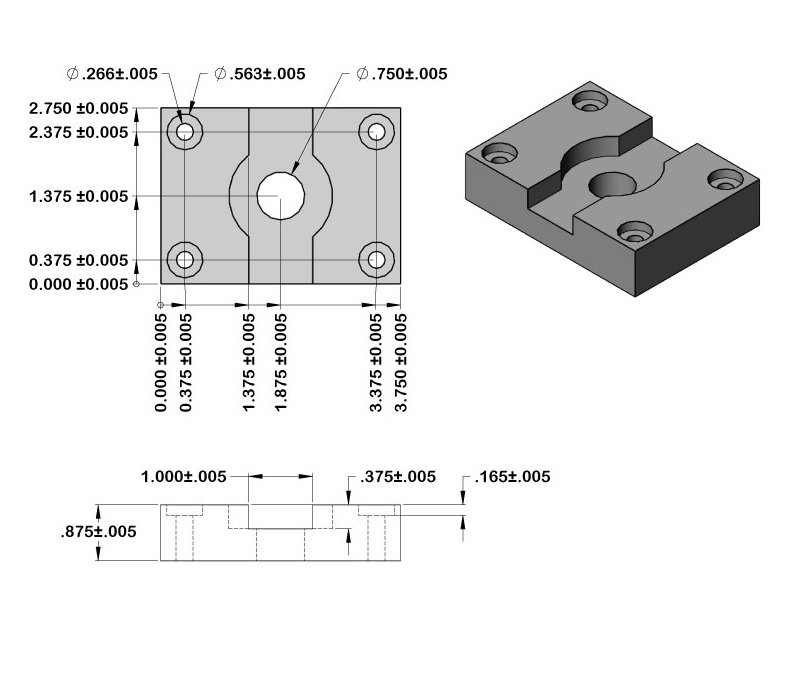 Aluminum CNC Parts Dimensions